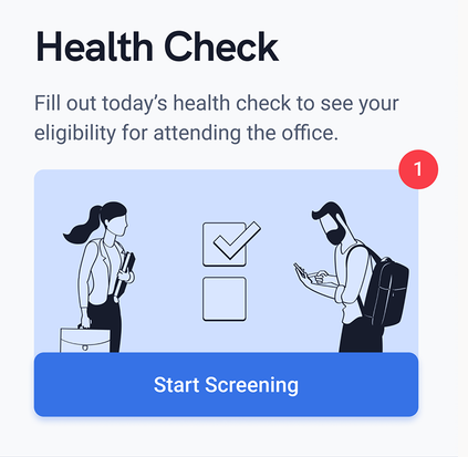 Mobile App Screenshot of Health Check